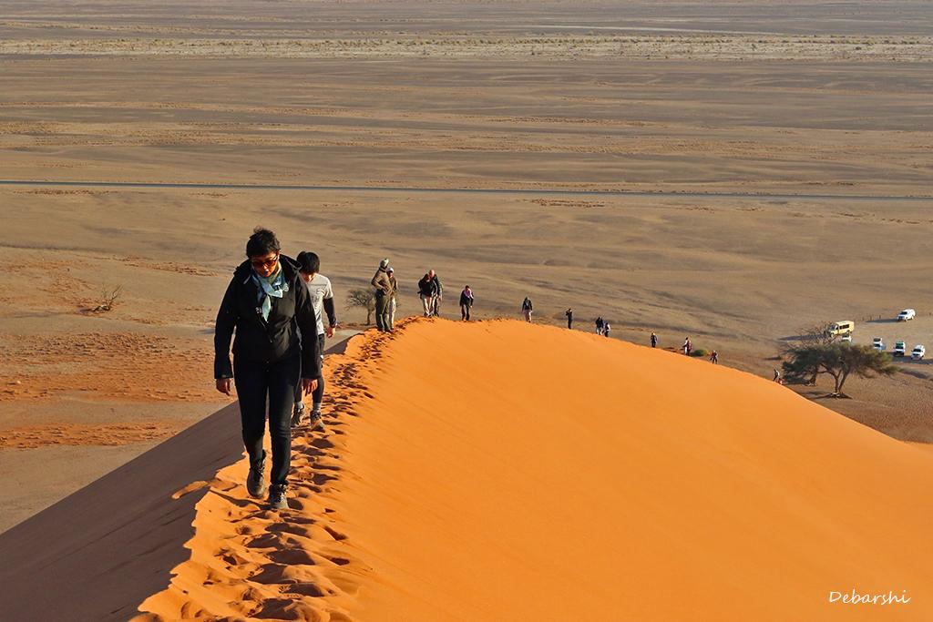 Sossusvlei dune climbing