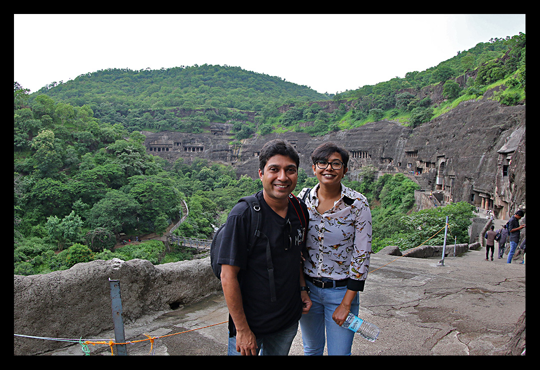 Ajanta Caves as our backdrop