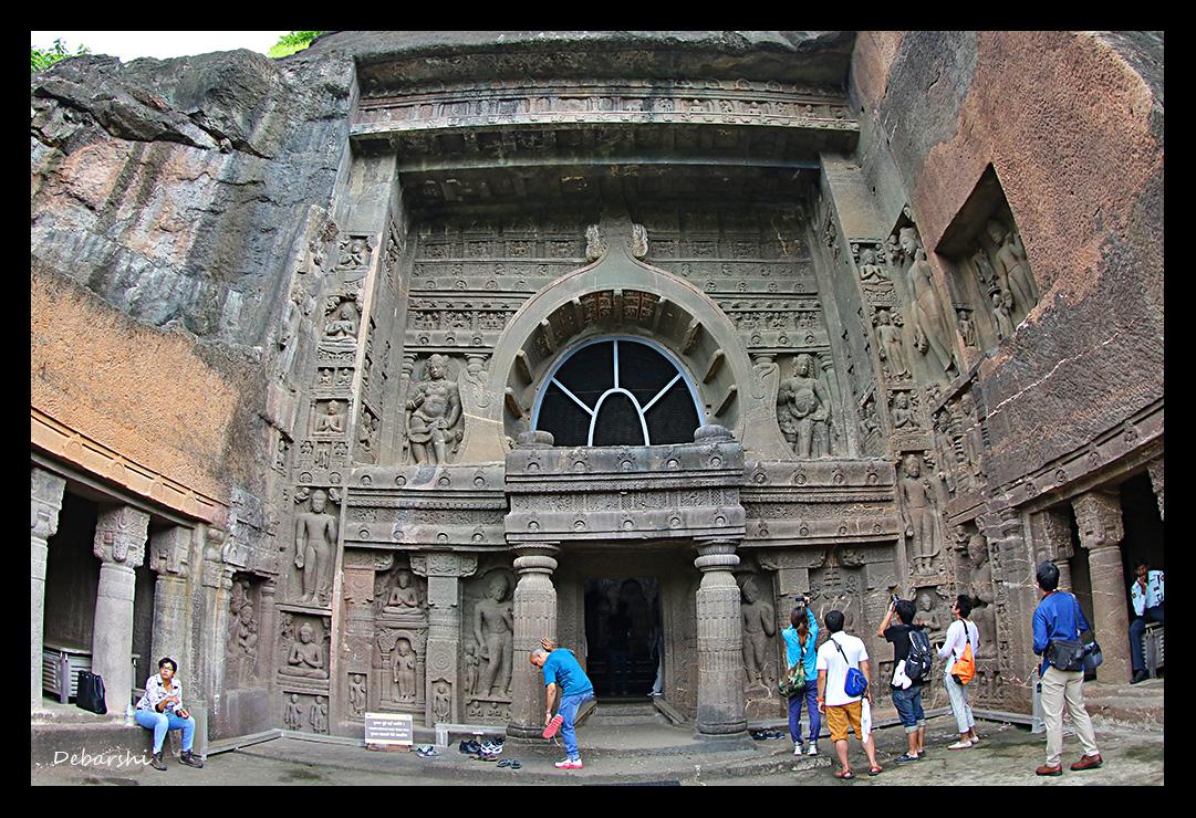 Ajanta Caves External facade