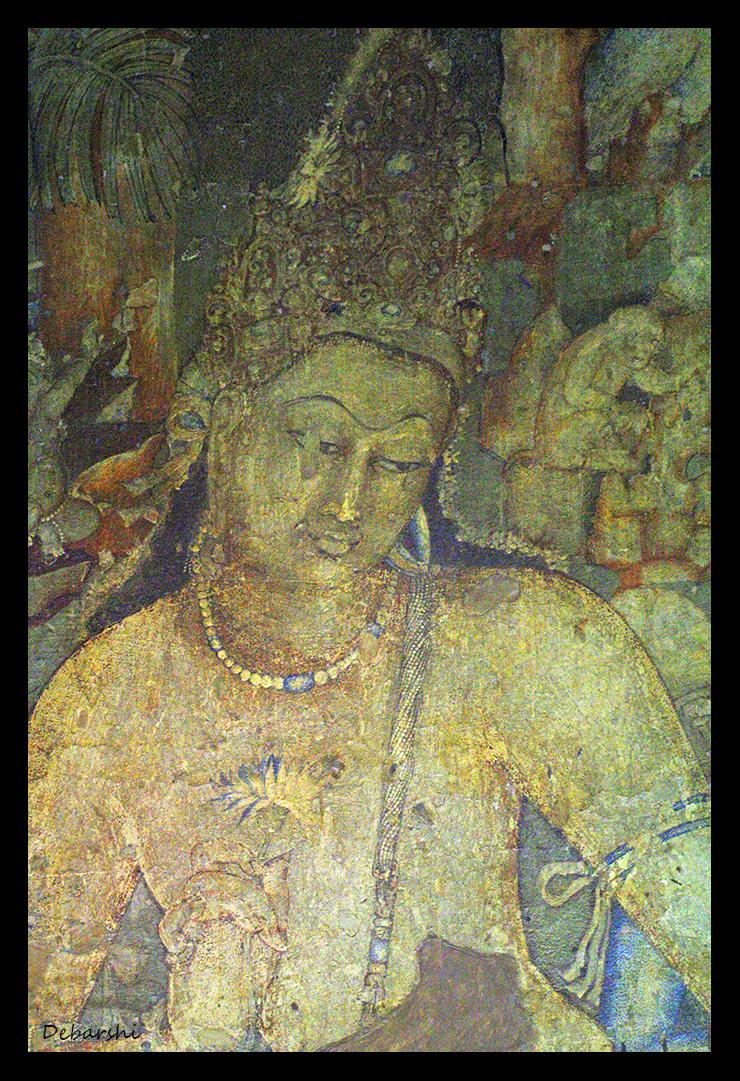 Ajanta Caves Fresco - Padmanpani