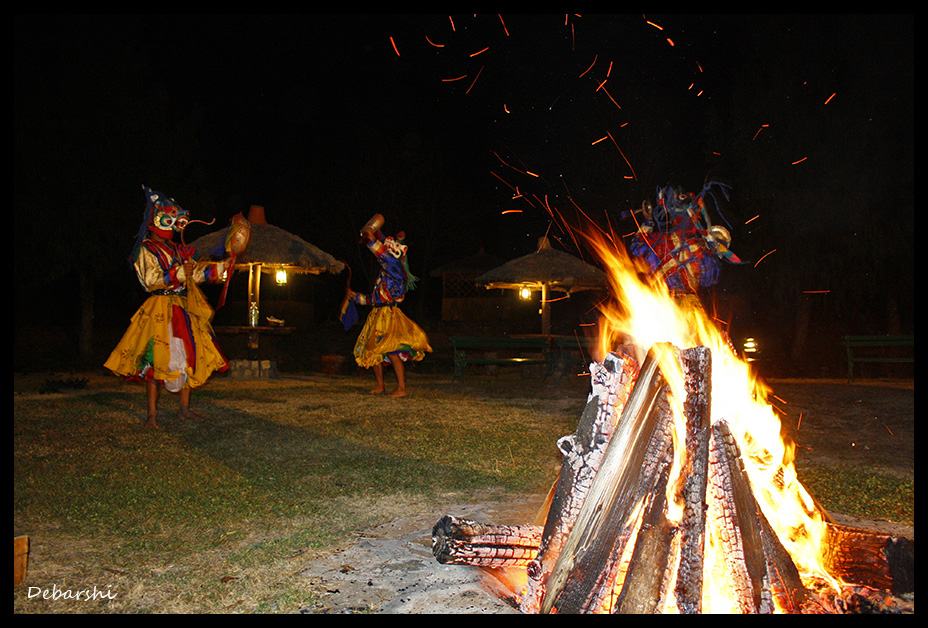 Paro Kichu Resort Bonfire