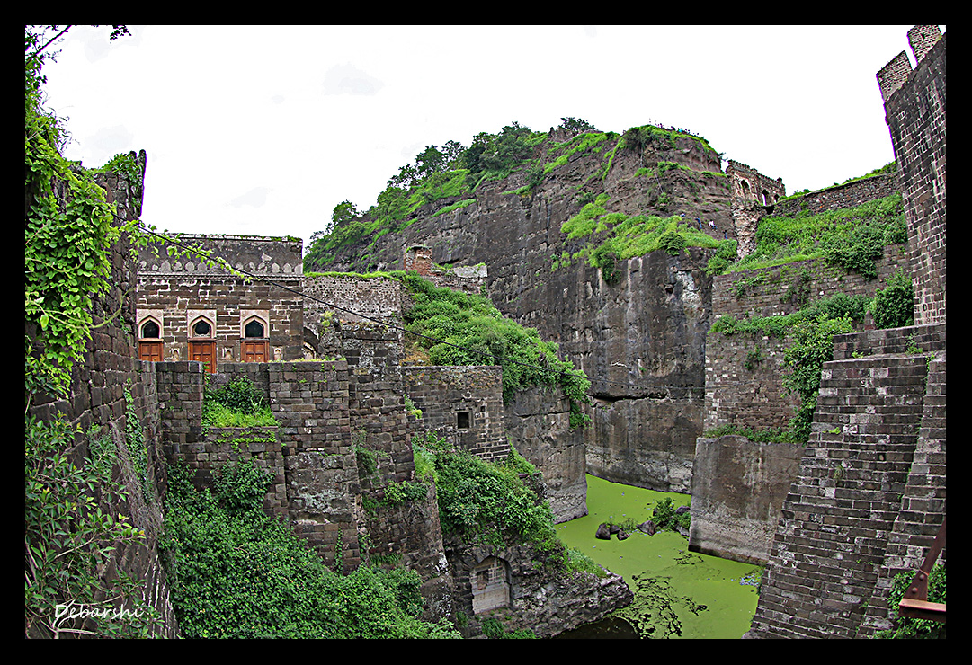 The Moat surrounding the Daulatabad Fort