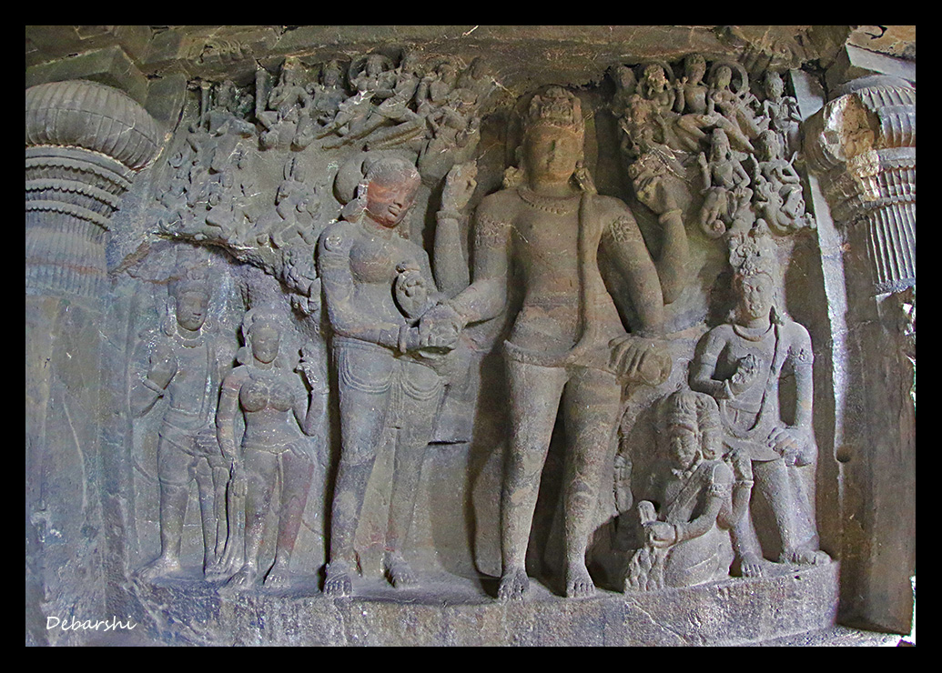 Ellora Caves Bas Relief