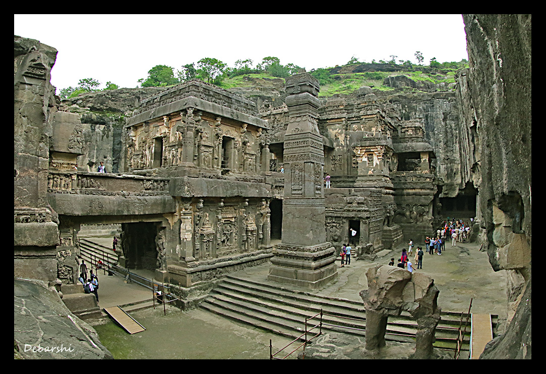 Ellora Caves Kailash Temple Right View