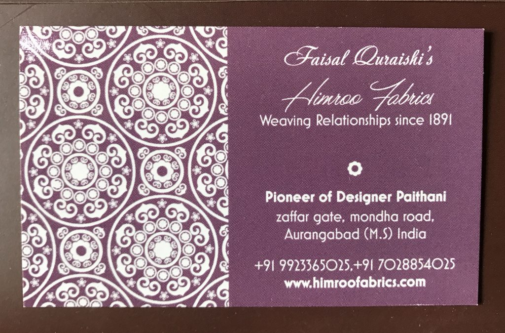 Faisal Quraishi Himroo Fabrics Aurangabad
