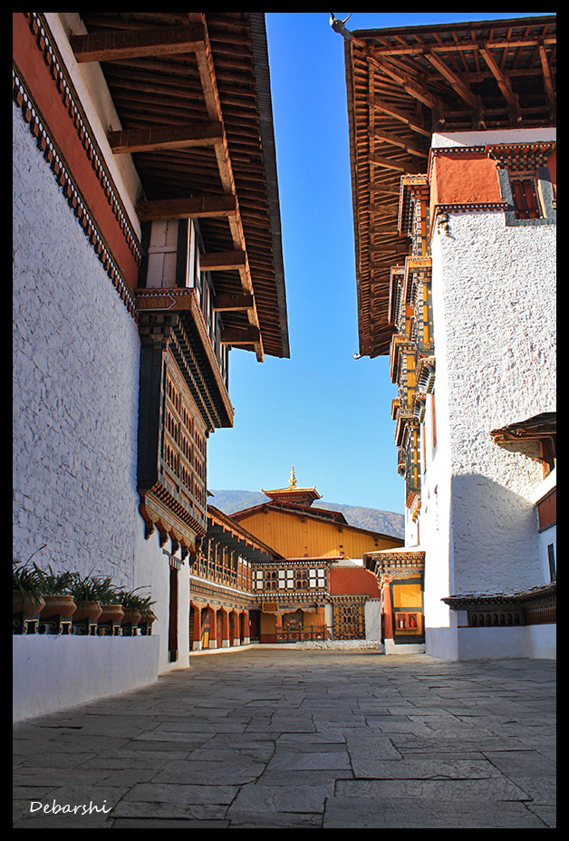 Inside the Paro Dzong