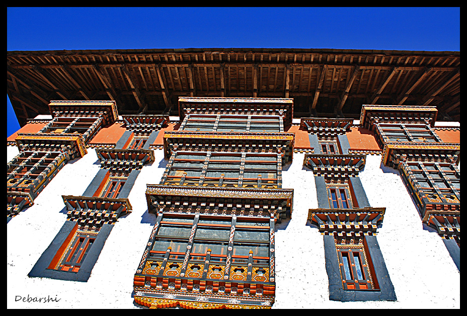 Paro Dzong Colorful Interiors