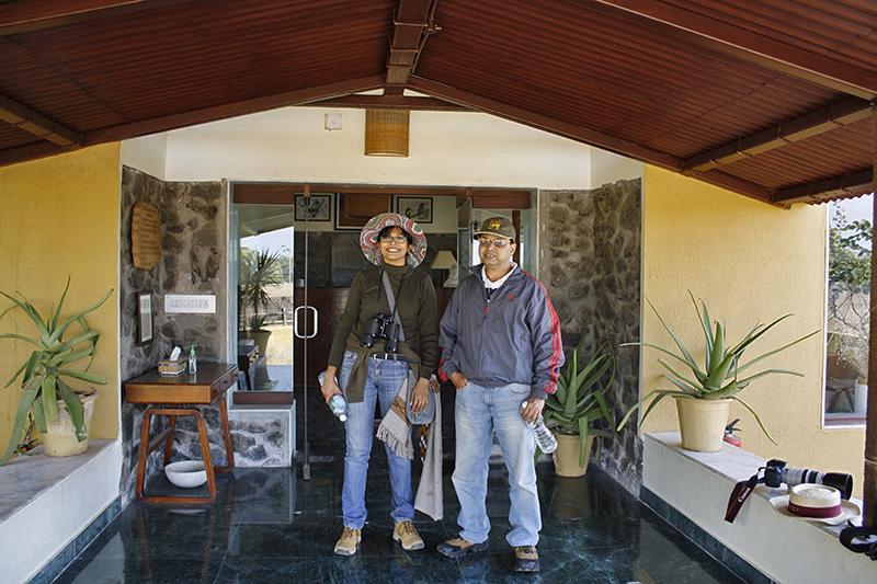 Chandrima & Dr. Majumder at Blackbuck Lodge