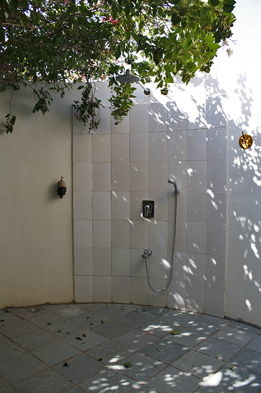 Open Shower at Blackbuck Lodge