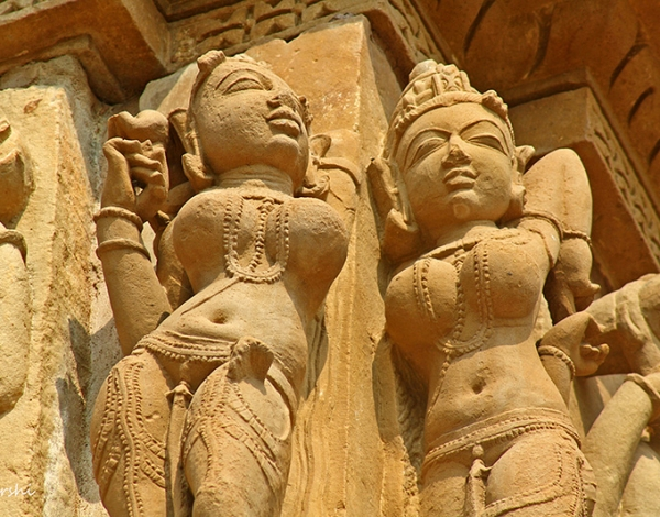 Visit to Khajuraho Temple Sculptures