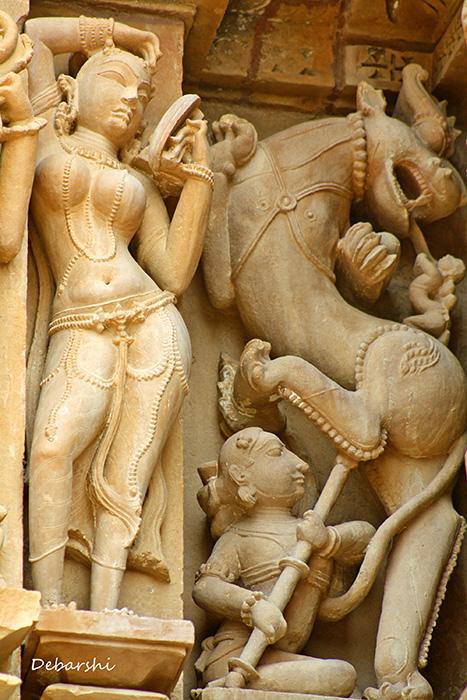 Khajuraho Temple Sculptures Kandariya Mahadeo
