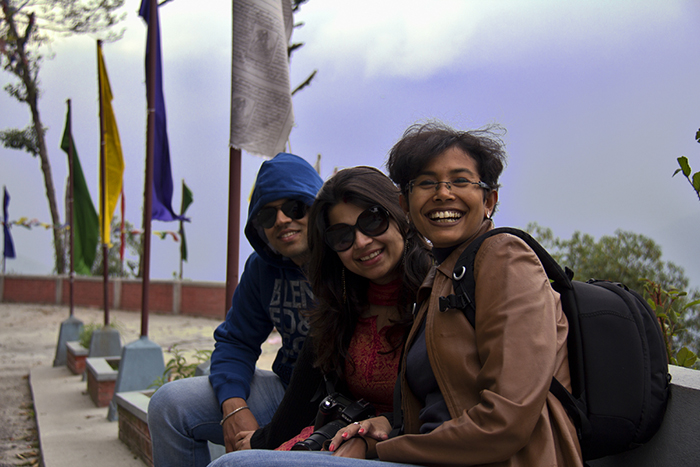 Road trips in India, Rajsri sumitro and Chandrima at Lava monastery