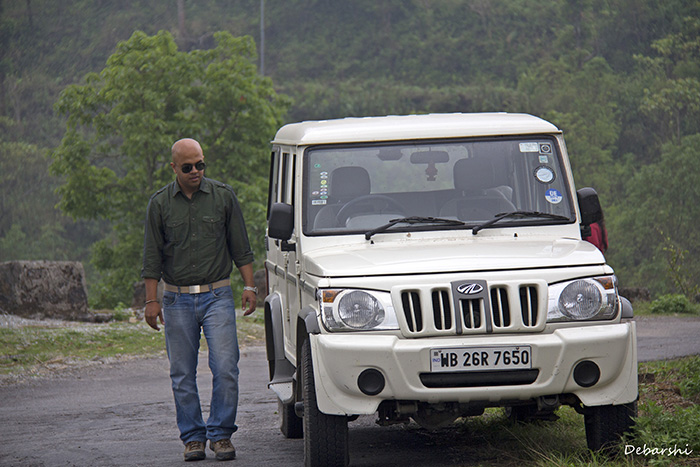 Road Trips in India, Sumitro with his Bolero