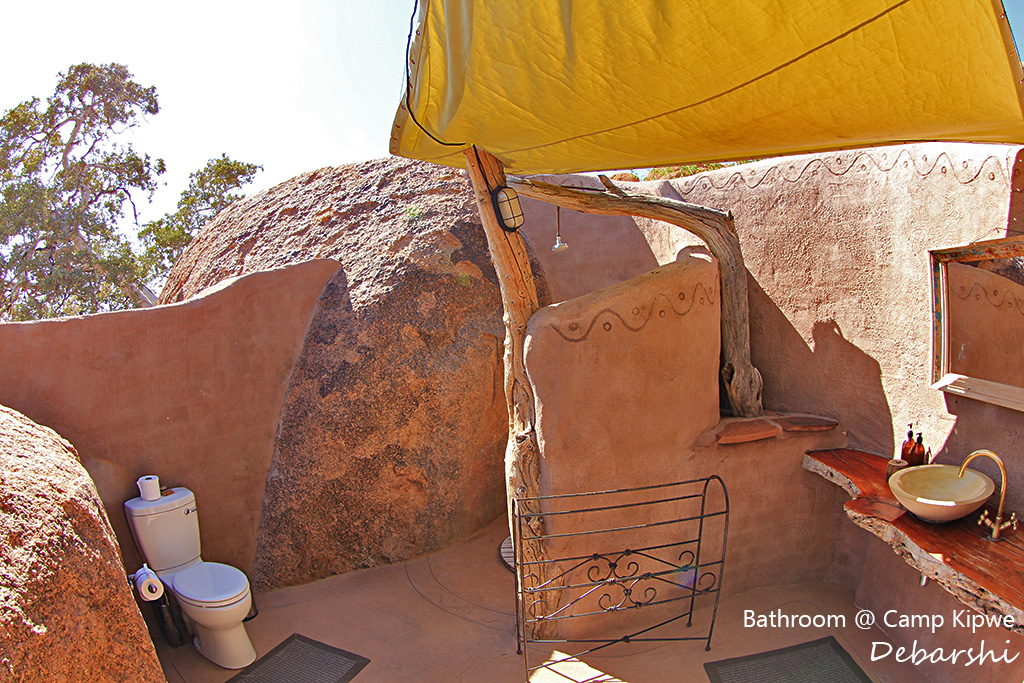 Camp Kipwe Villa Bathroom in Twyfelfontein