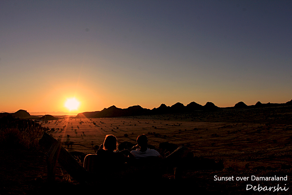 Sunset at Camp Kipwe in Twyfelfontein