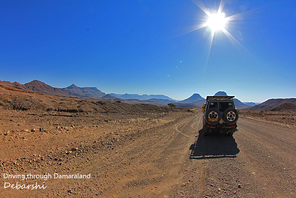 Driving through Damaraland