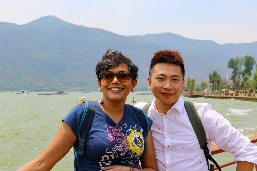 Dian Chi Kunming with Kevin