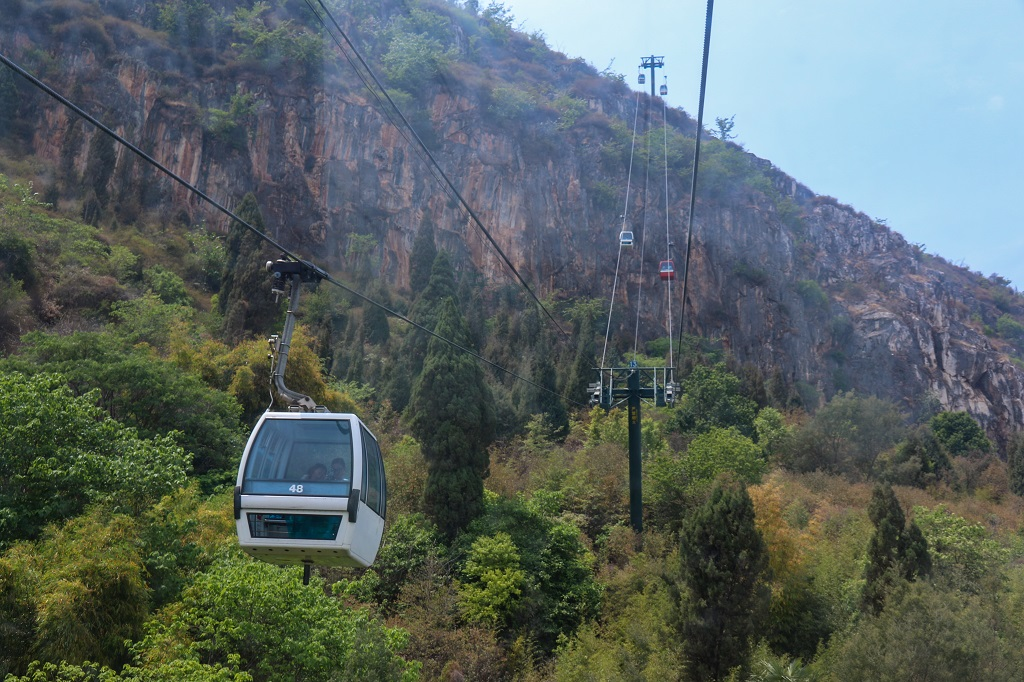 Cable car to Xi Shan