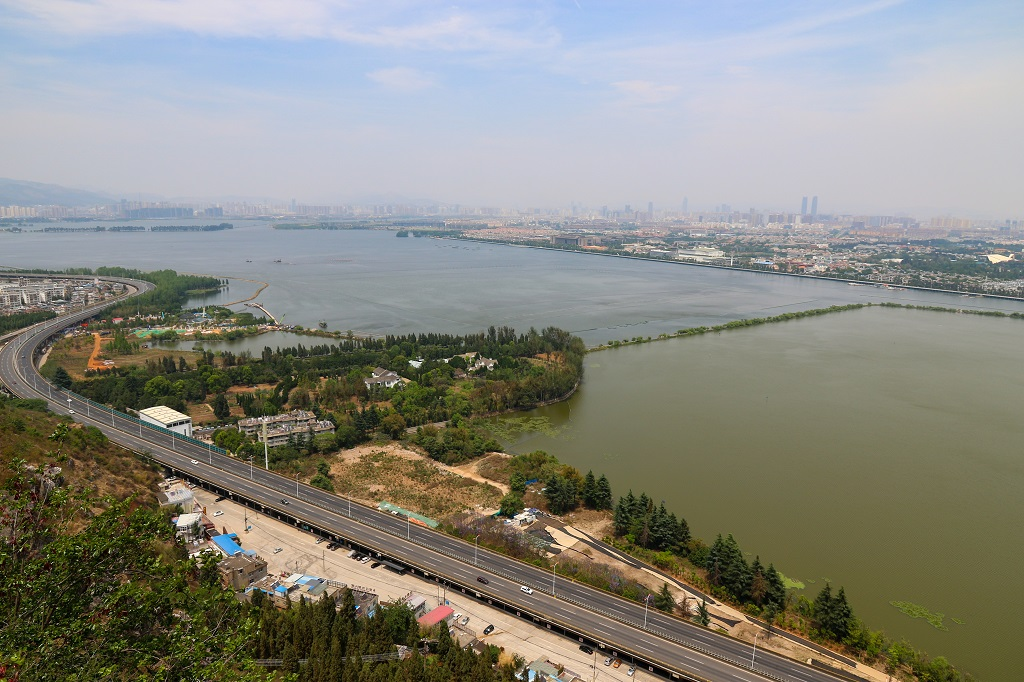 Kunming City from top of Xi Shan