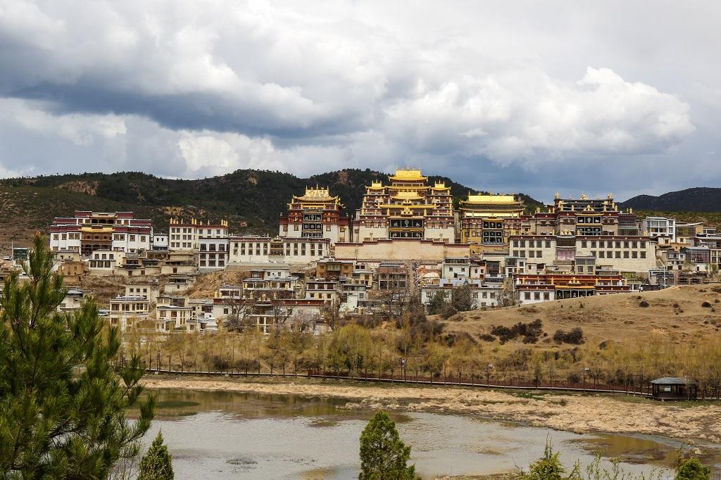 Panorama of Ganden Sumtseling Monastery