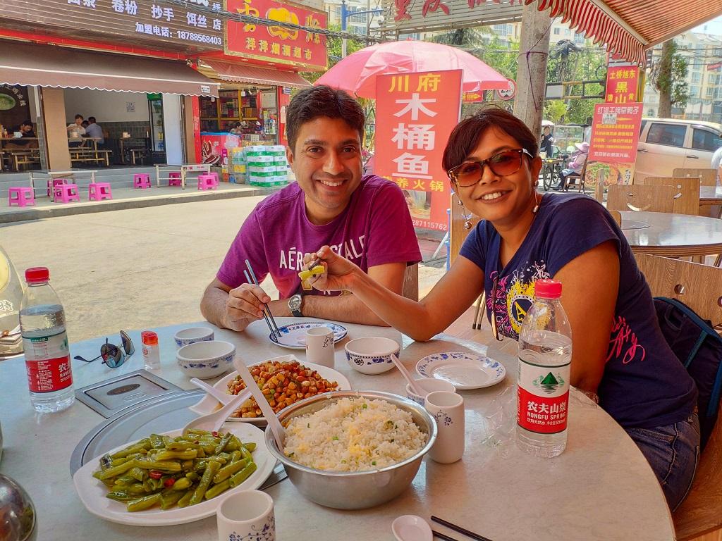 Lunch in Kunming local restaurant