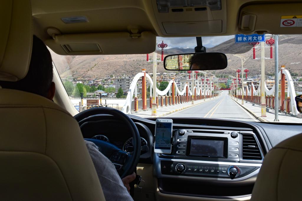 Crossing the Xianshui river to Daofu