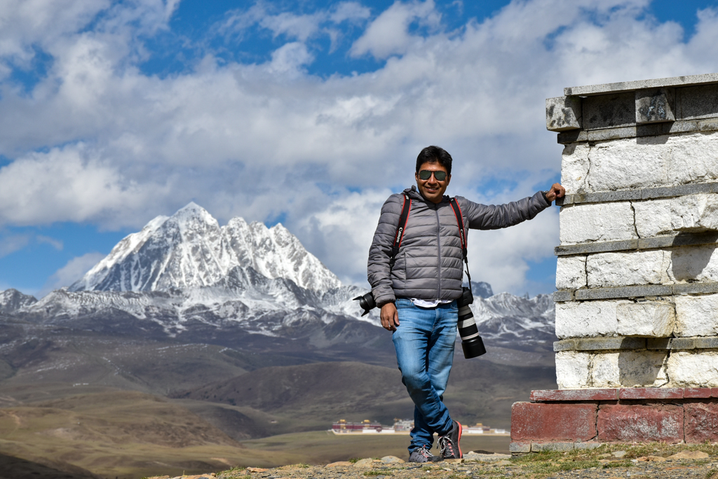 Debarshi with Yalacuo in the backdrop