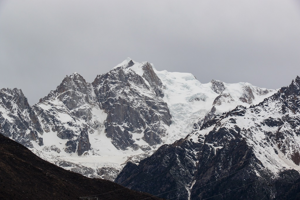 The mighty Chorla mountains and the glacial formation