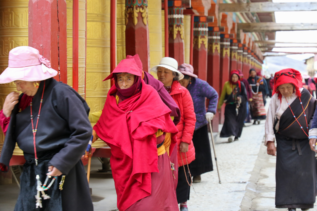 Pious Tibetans at Muya Village