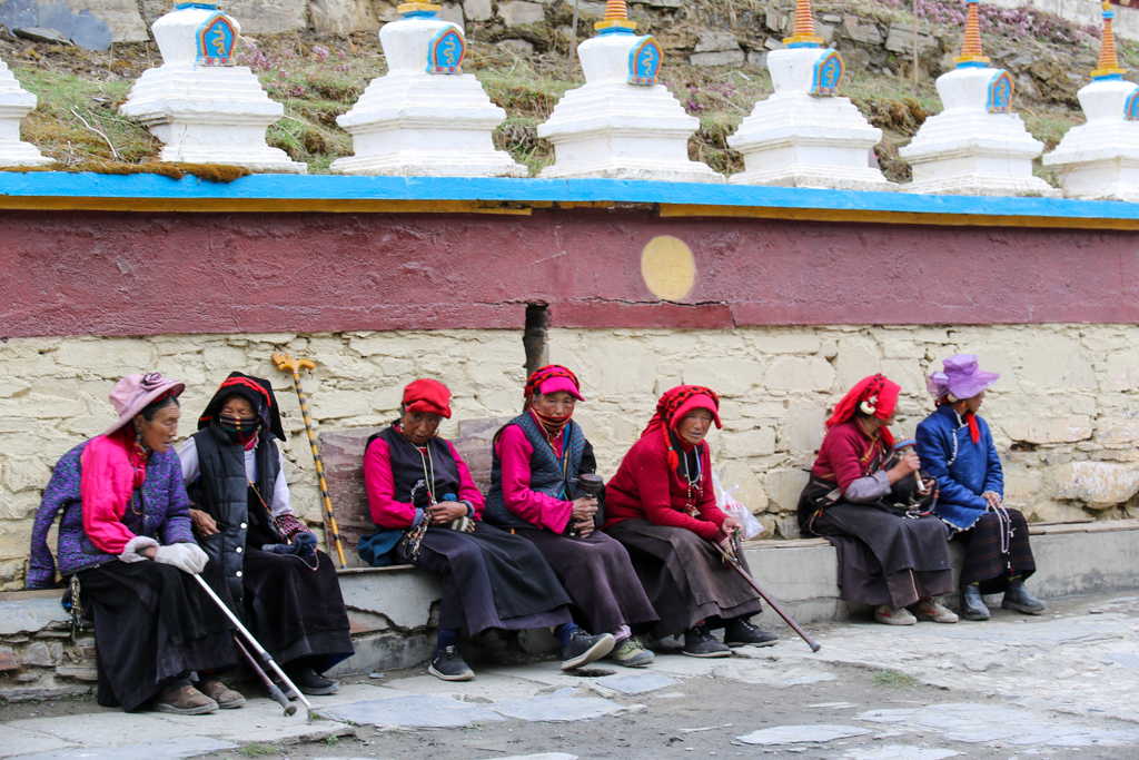 Tibetan women at Muya Village