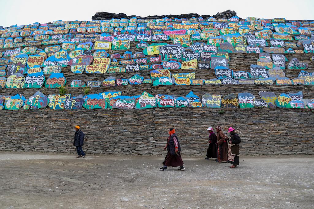 The largest Mani Pile at Muya village