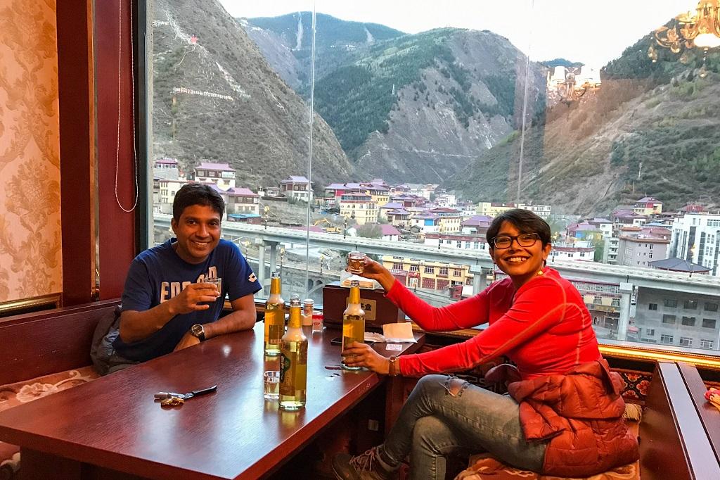 Dinner at the Tibetan restaurant at Xinlong