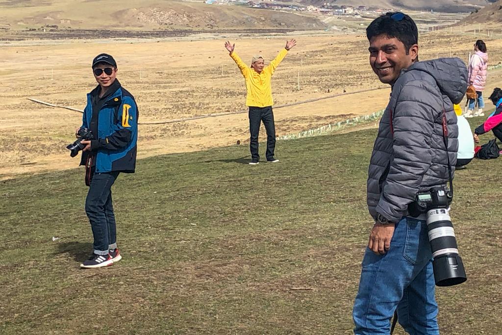 Debarshi and Kevin enjoying the panorama