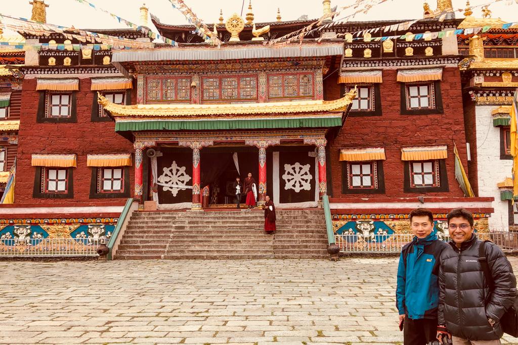 Kevin and Debarshi in Tagong Monastery