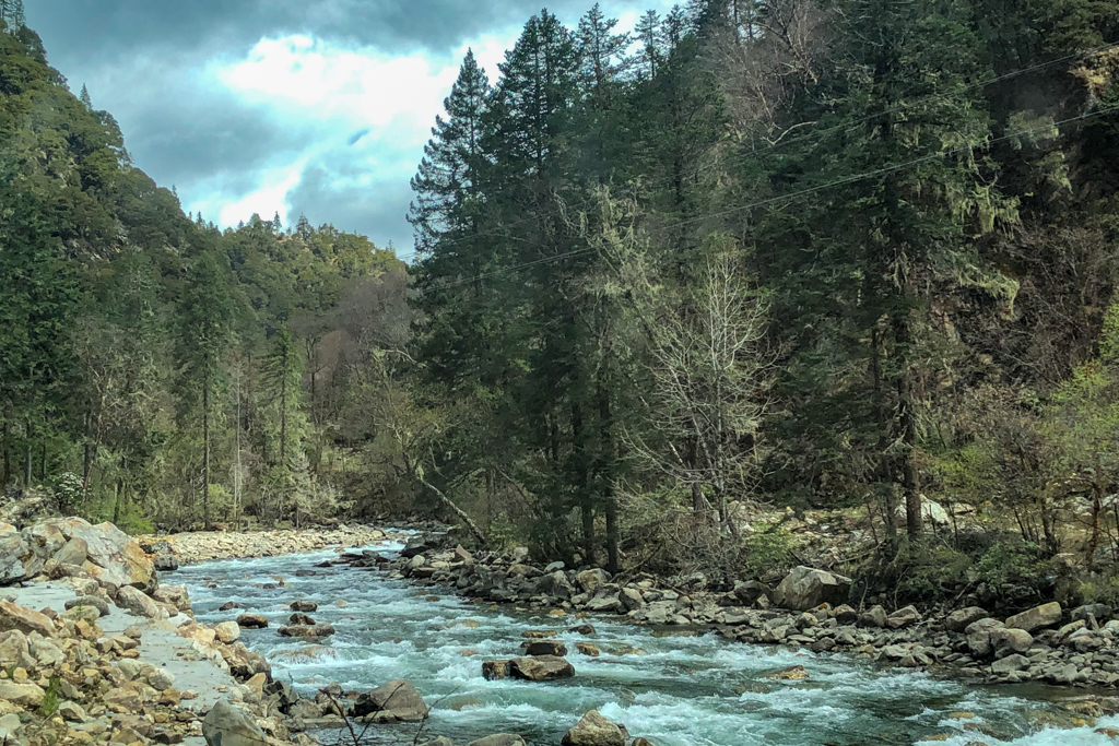 The river flows on way to Moska