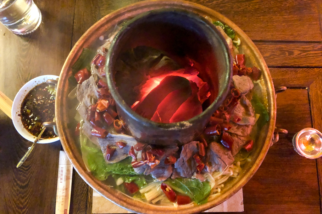 Tibetan hotpot at AKDB boutique hotel
