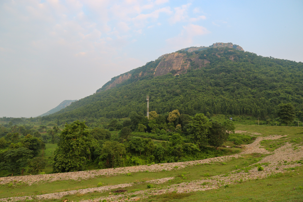 Rocky hill on the backdrop at Khairabera