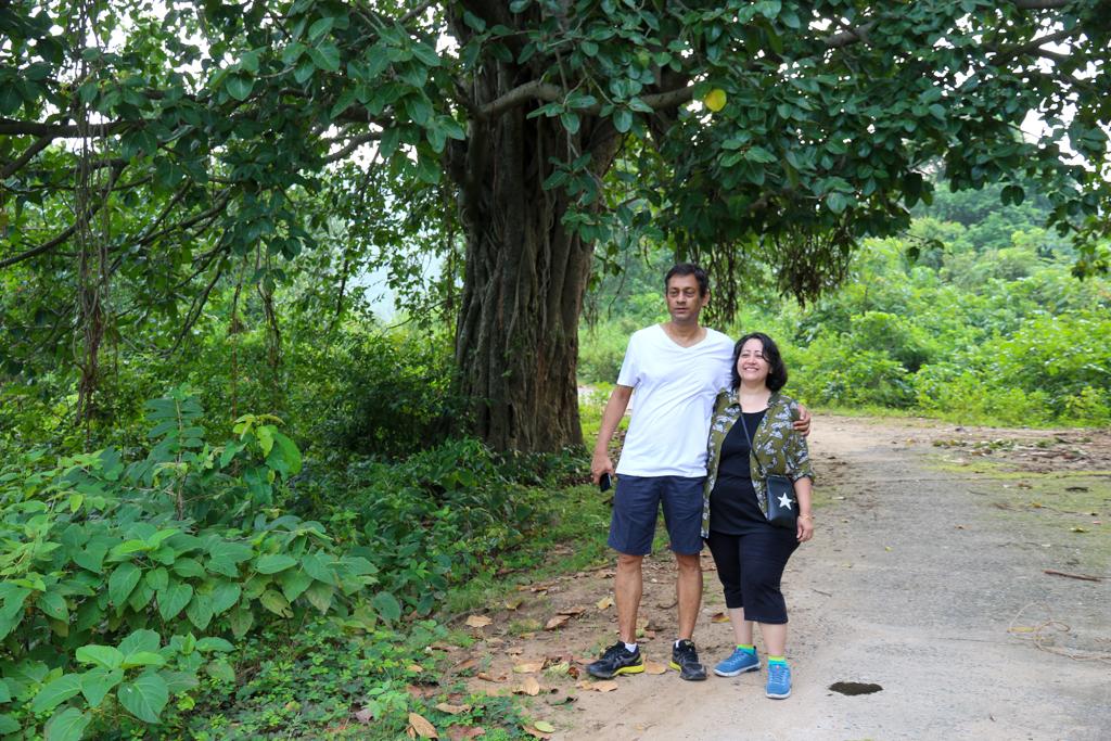 Vitika and Rana trek at Ayodhya Hills Purulia