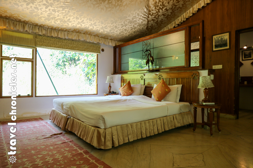 Inside Luxury tent at Pench Jungle Camp