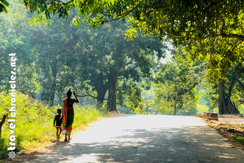 Tribal Woman with Child inside Saranda Forest