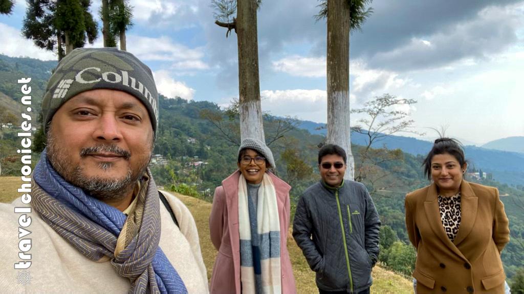 With Abhijit and Somrata at Chamong Chiabari